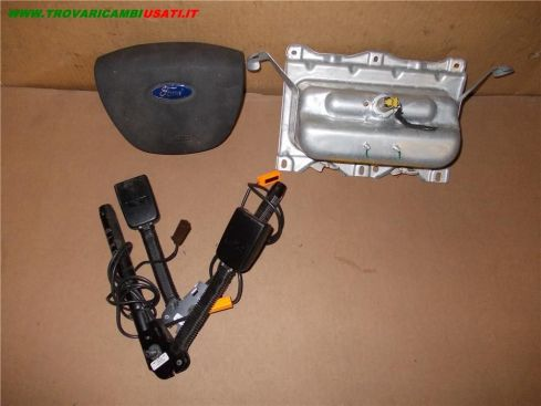 DISPOSITIVO AIR-BAG lato guida FORD FOCUS (CAP) C-Max AIR VOLANTE LISCIO + PASS + 2 CINTURE 1318321 999-U32232 (Usato)