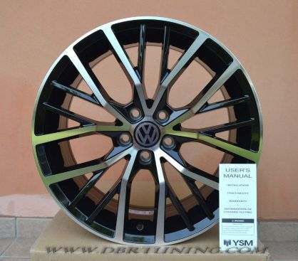 Cerchi in lega 17 VW POLO GTI - POLO Black Polished 17
